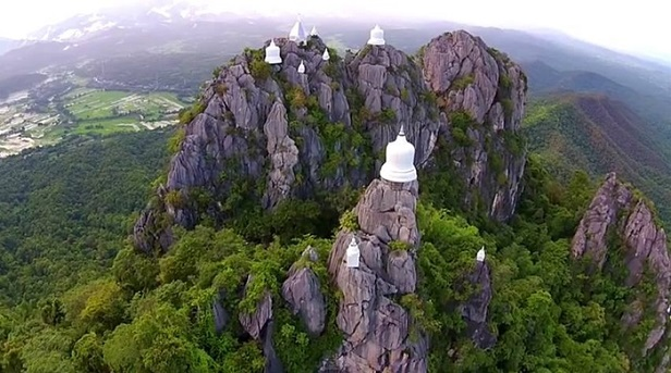 The white stupas