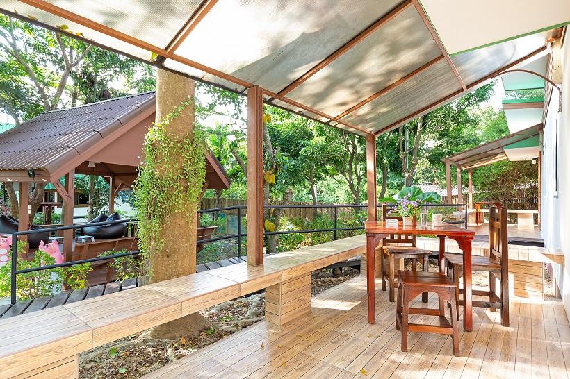 Harmony Naturist Resort Outside Seating Area