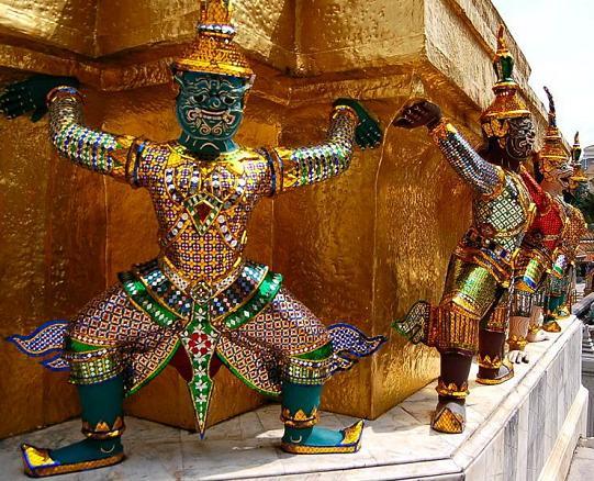 Monkey Warriors at Wat Phra Kaew Temple