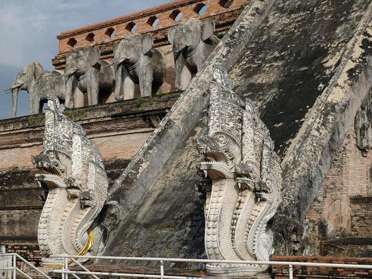Makara Images at Wat Chedi Luang