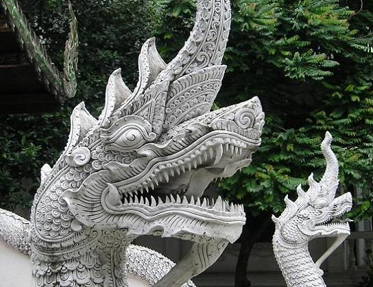 Makara Images at Wat Suan Dok