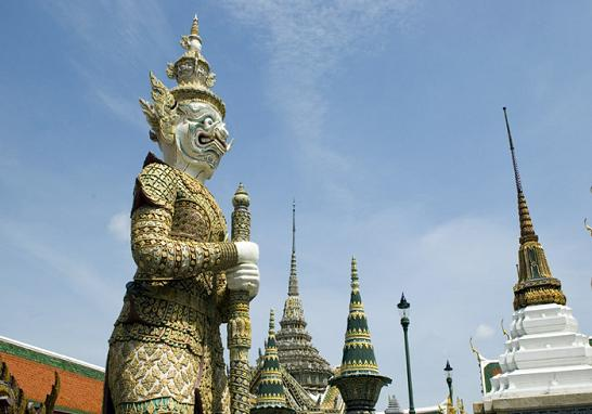 Giant Yaksha Statue at the Grand Palace